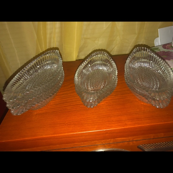 Other - 7 vintage pressed glass relish/ice cream dishes